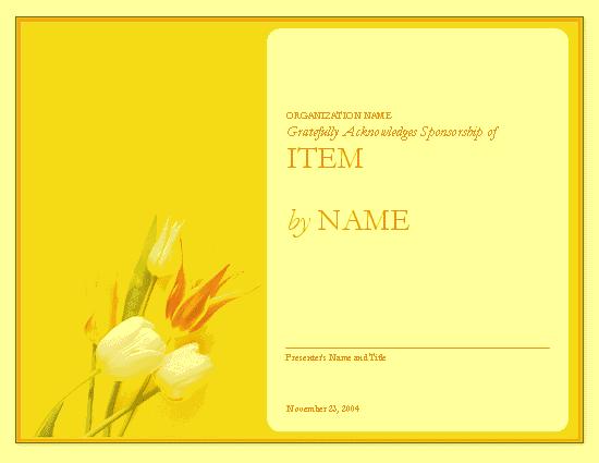 Certificate of appreciation to sponsor free certificate certificate of appreciation to sponsor yellow yadclub Gallery