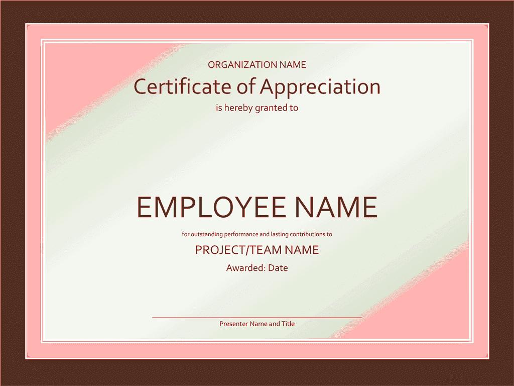 Certificate Of Appreciation Red