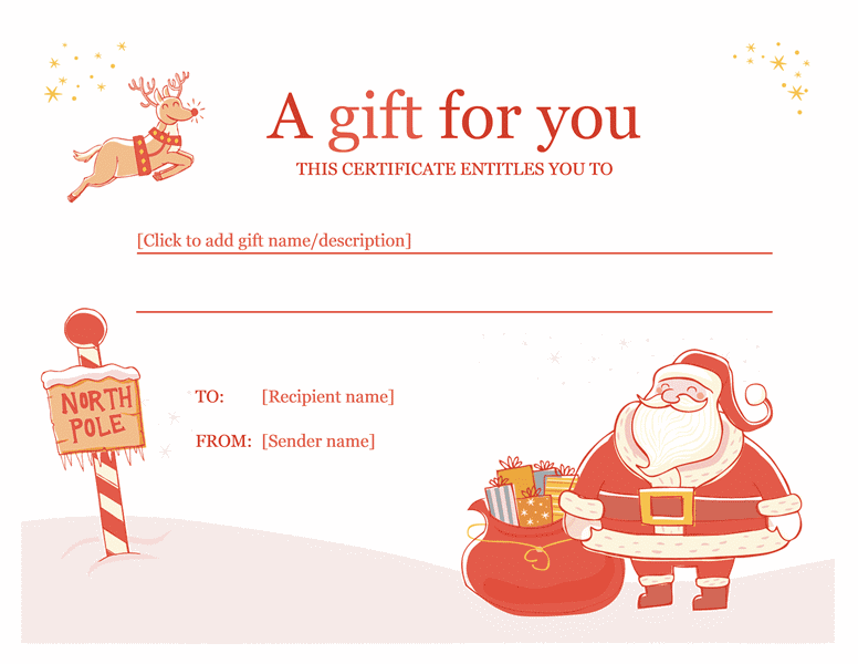 word gift certificate
