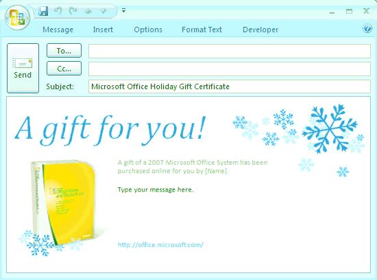 E mail message microsoft office gift certificate free e mail message microsoft office gift certificate green yadclub Choice Image