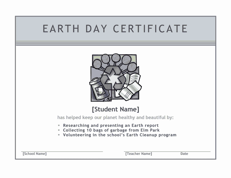 Earth Twenty-four Hours Certificate Grayscale