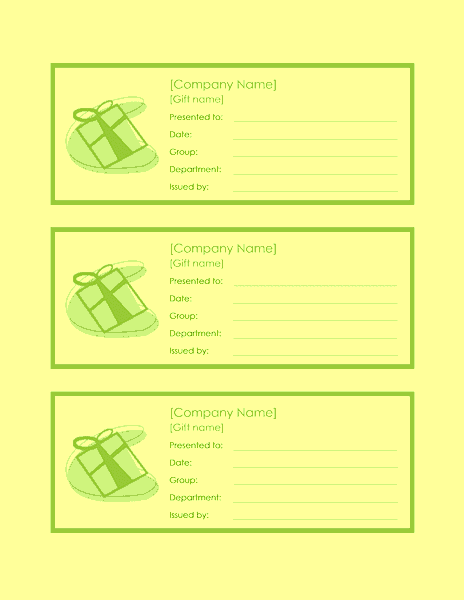 employee gift certificate template word 2010