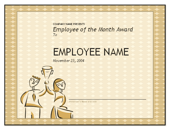 employee of the month template employee of the month award free certificate templates 21489 | employee of the month award 006089012 green