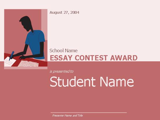 Essay contest planning