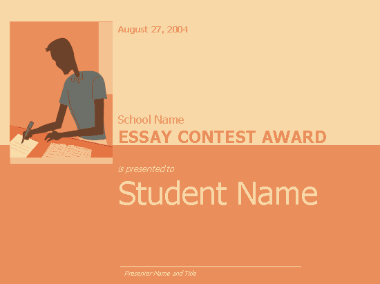 essay awards Toefl essay:awards and prizes are given for excellence in various fields do these awards and prizes serve a useful purpose use specific reasons and examples to.