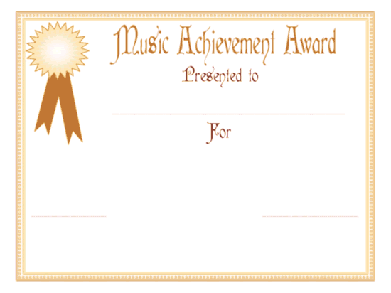 euphony accomplishment awarding certificate free