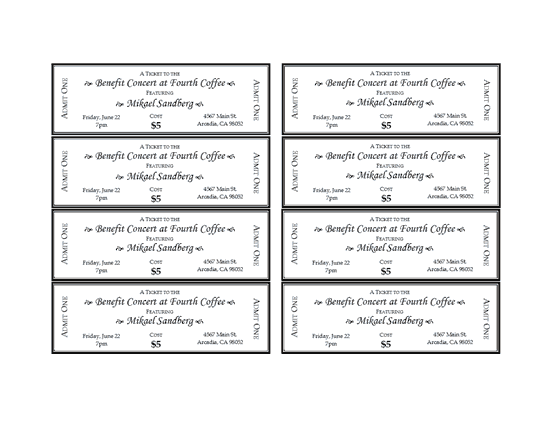 Doc644415 Word Template for Tickets Event Ticket Template – Word Event Ticket Template