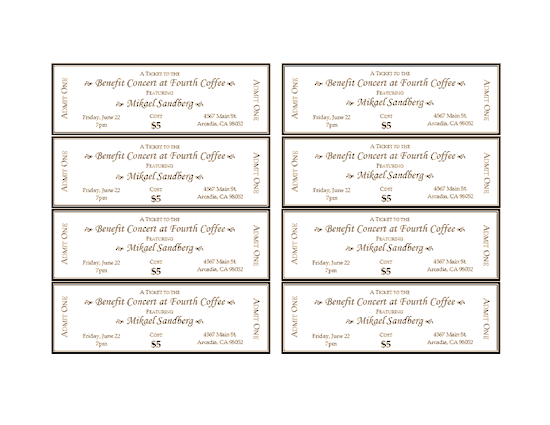 raffle ticket template for word – Tickets Template Word
