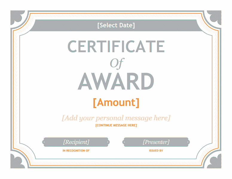 Download Gift Certificate Template Word 2007 01  Award Templates Word