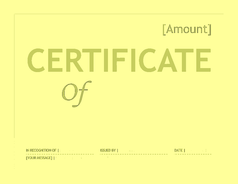 Gift certificate template word 2016 free certificate for Certificate template word 2016