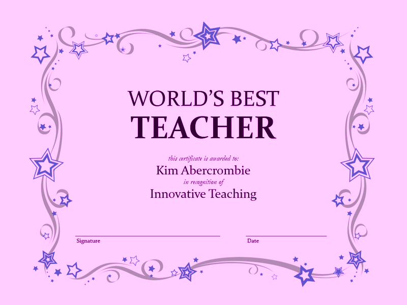 Global Better Certificate Purple
