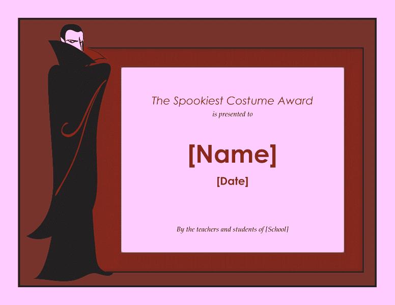 Halloween Attire Awarding Purple