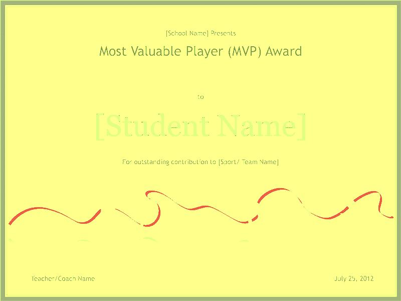 Mvp Award Template from templatescertificates.com