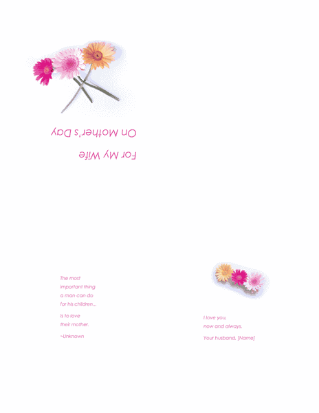 Printable Free Mothers Day Cards For Wife 02