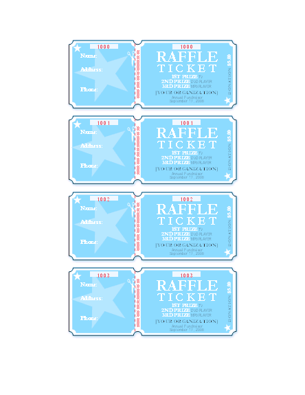 Raffle Tickets 4 Per Page Free Certificate Templates In – Microsoft Office Raffle Ticket Template