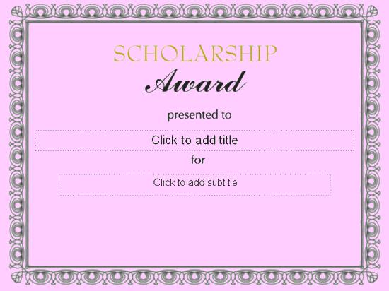 Scholarship Award Certificate - Free Certificate Templates In ...