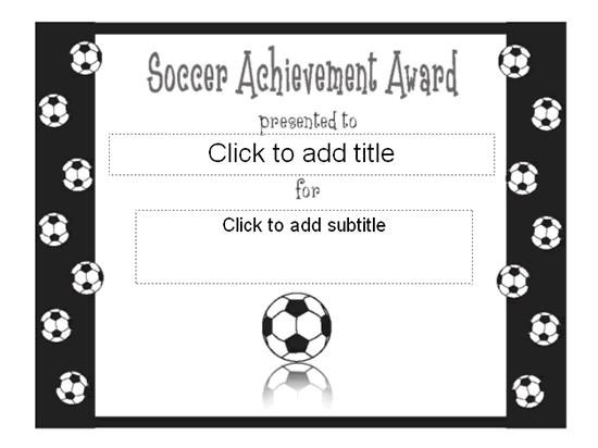 Soccer achievement award certificate free certificate for Soccer award certificate templates free