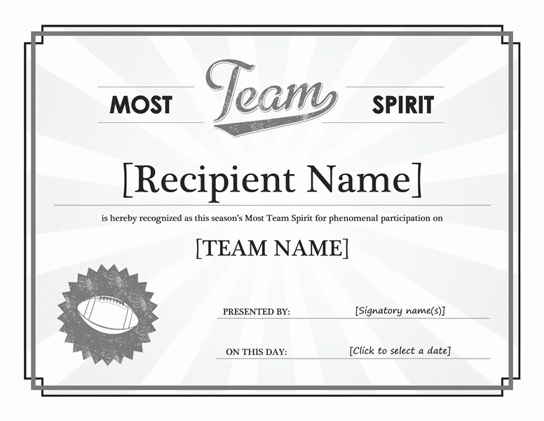 Squad Tone Awarding Certificate Grayscale