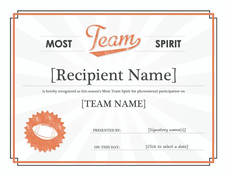 Squad Tone Awarding Certificate Green