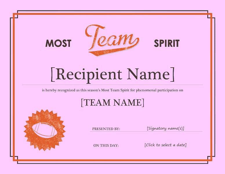Squad Tone Awarding Certificate Purple