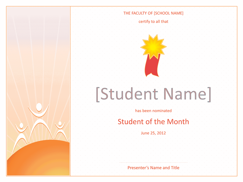 Star Student Certificate 01