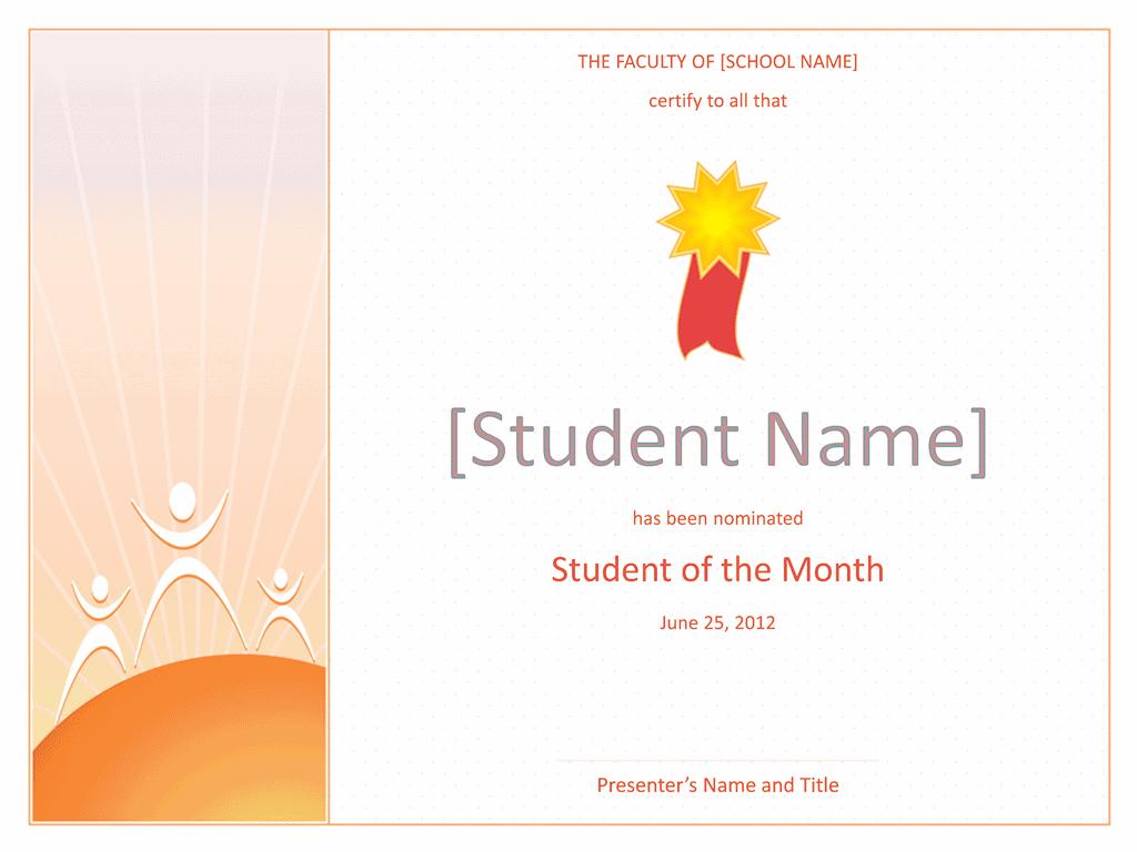 Star Student Certificate 01
