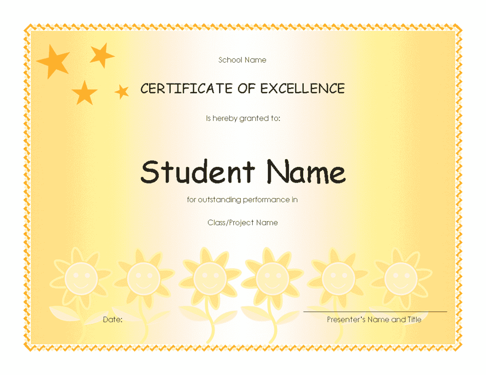 certificate of recognition template microsoft word