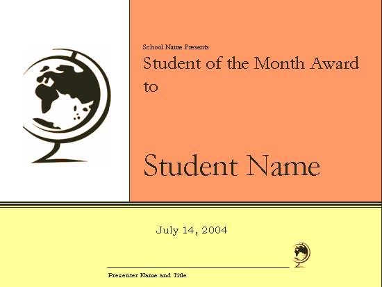 student of the month award certificate elementary free certificate templates in academic. Black Bedroom Furniture Sets. Home Design Ideas