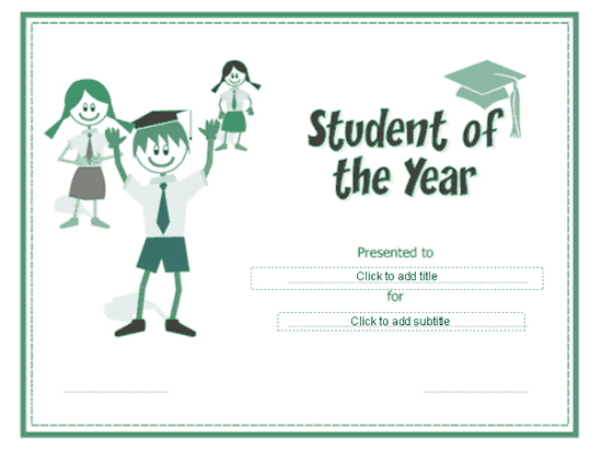 Student of the year award certificate free certificate for Student of the year certificate template