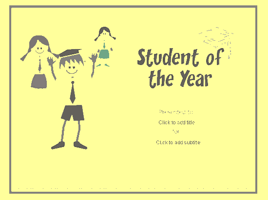 Student Of The Year Award Certificate Yellow-theme