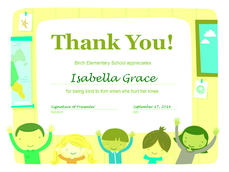 Download Thank You Certificate Free Certificate Templates For Ms