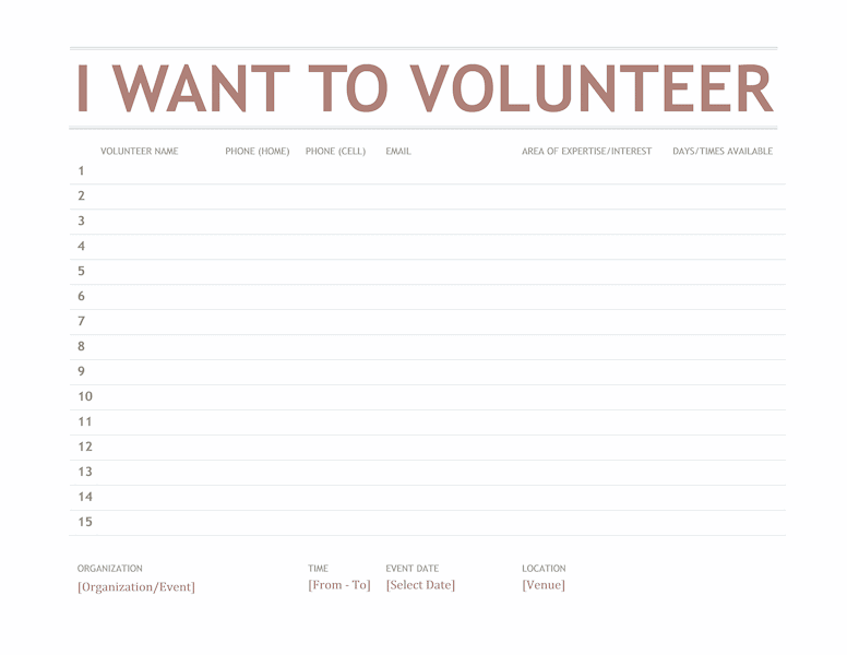 Volunteer Sign-up Sheet 02